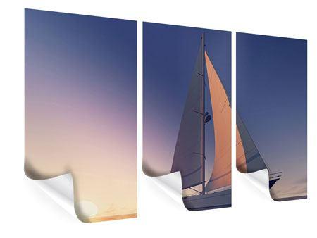 Poster 3-teilig Das Segelschiff