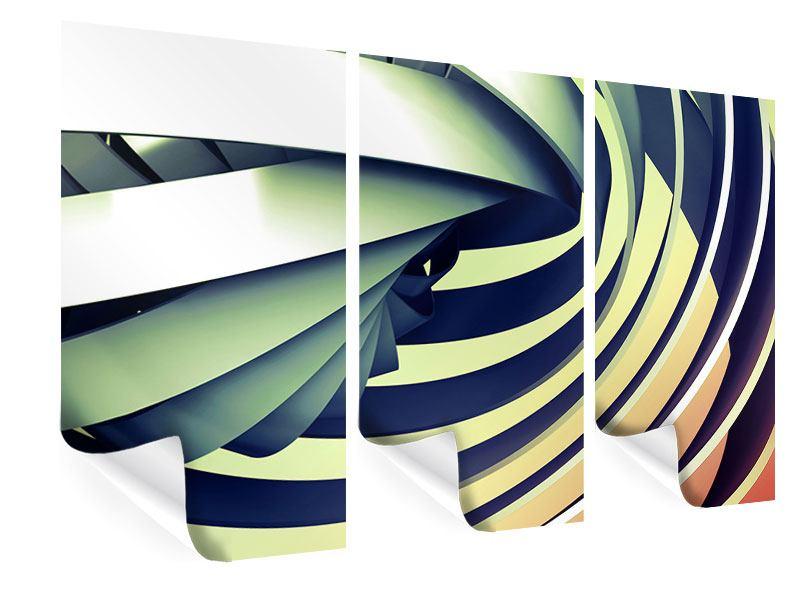 Poster 3-teilig Abstrakte Perspektiven