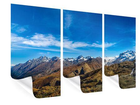 Poster 3-teilig Schweizer Alpen im Frühling