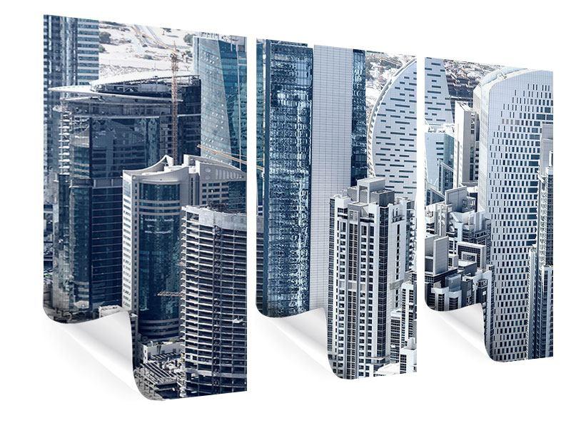 Poster 3-teilig Die Wolkenkratzer von Dubai
