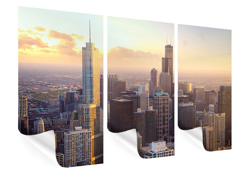Poster 3-teilig Skyline Chicago
