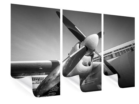 Poster 3-teilig Nostalgisches Flugzeug