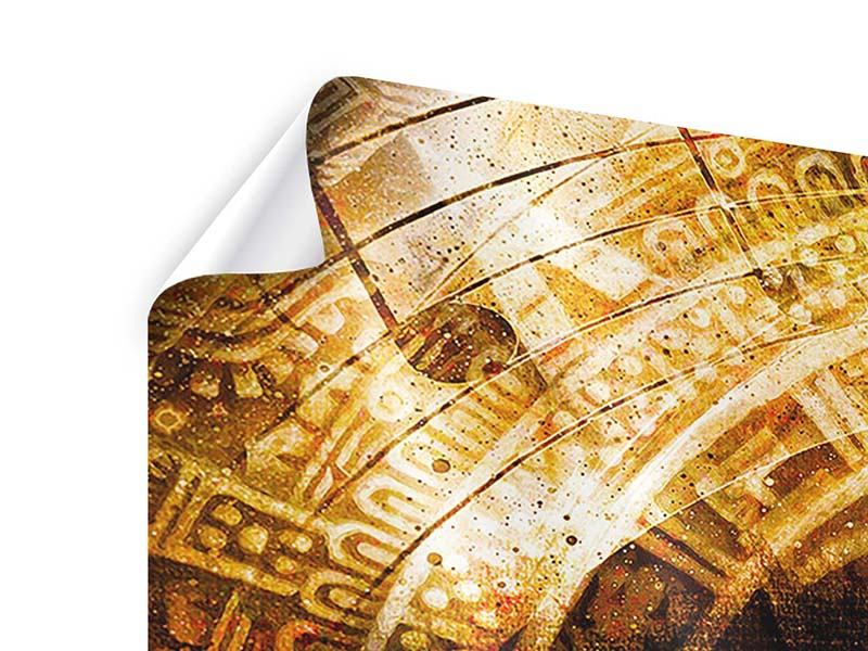 Poster 3-teilig Fraktales Auge