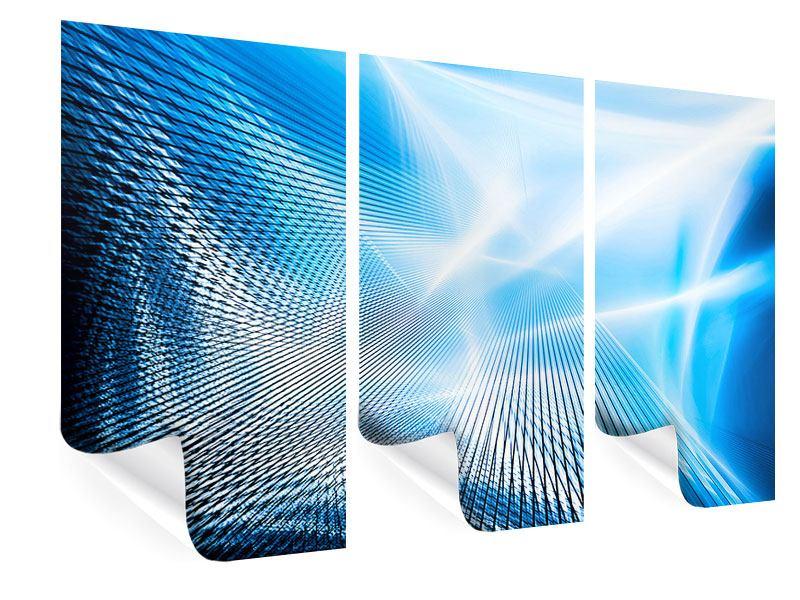 Poster 3-teilig Laser