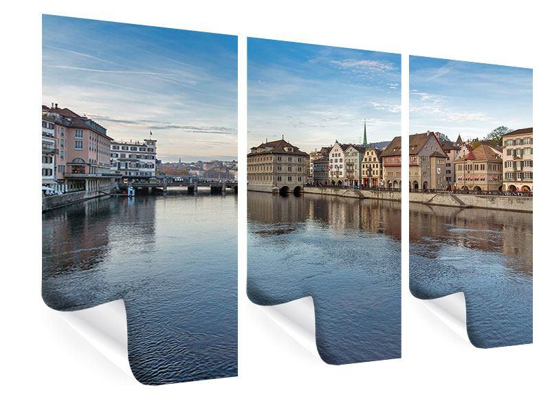 Poster 3-teilig Kosmopolitisches Zürich