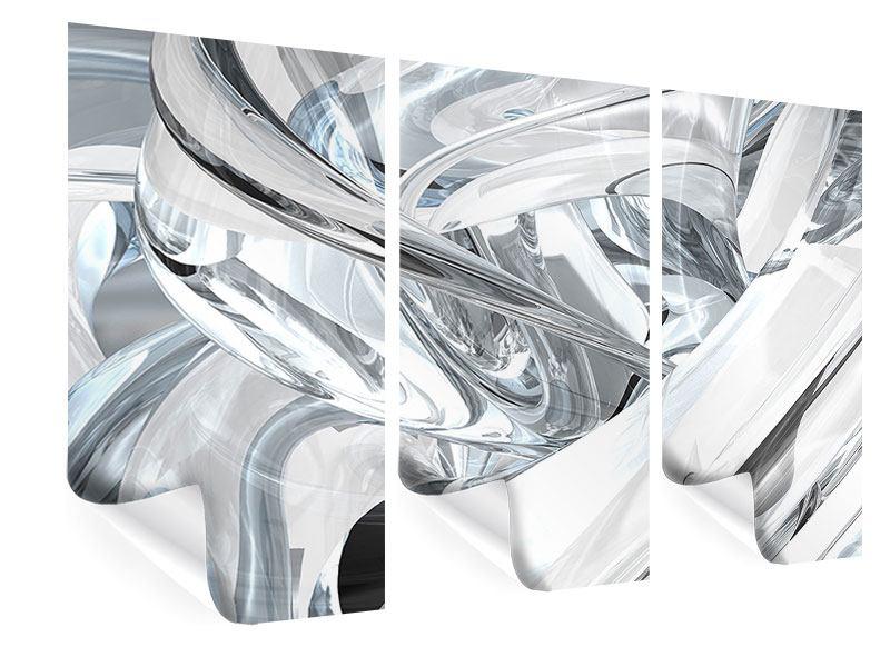 Poster 3-teilig Abstrakte Glasbahnen