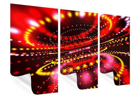 Poster 3-teilig Abstraktes Lichtspiel