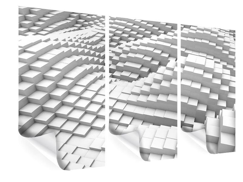 Poster 3-teilig 3D-Elemente
