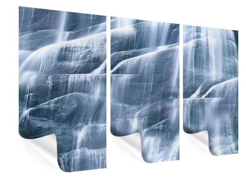 Poster 3-teilig Grossartiger Wasserfall
