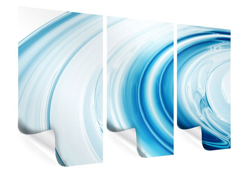 Poster 3-teilig Abstraktes Glas