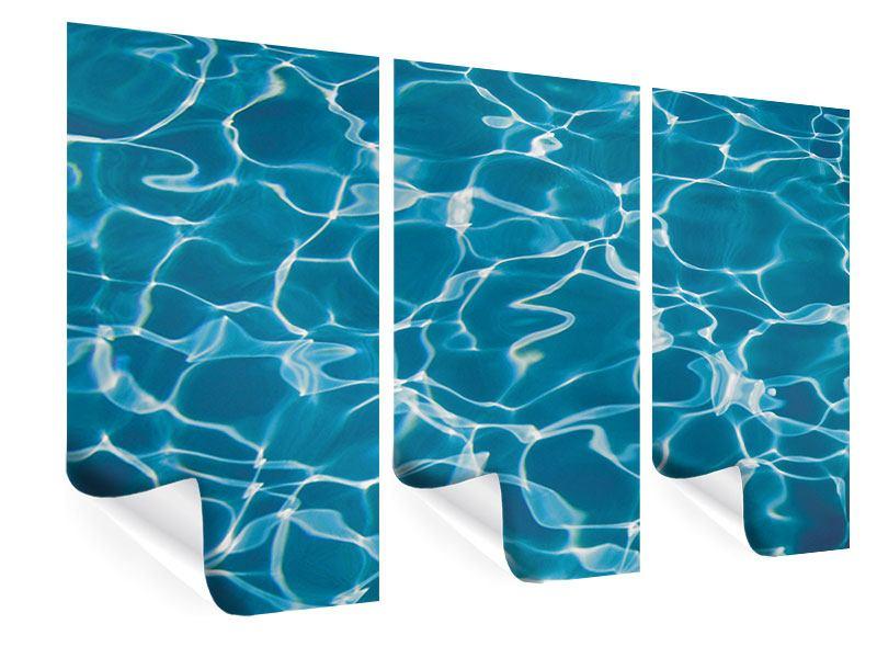 Poster 3-teilig Pool