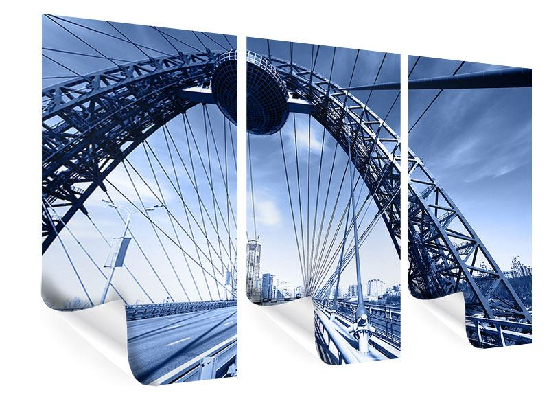 Poster 3-teilig Schiwopisny-Brücke