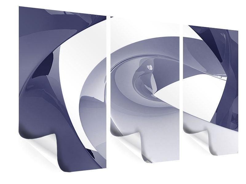 Poster 3-teilig Abstrakte Schwingungen