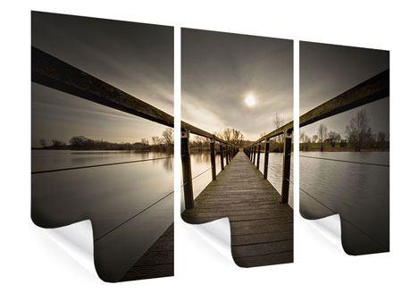Poster 3-teilig Die Holzbrücke