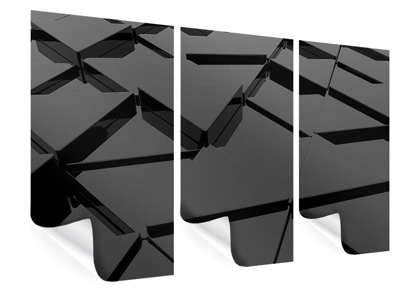 Poster 3-teilig 3D-Dreiecksflächen