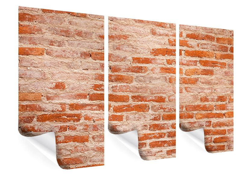Poster 3-teilig Mauerwerk