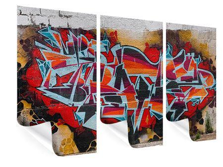 Poster 3-teilig New York Graffiti