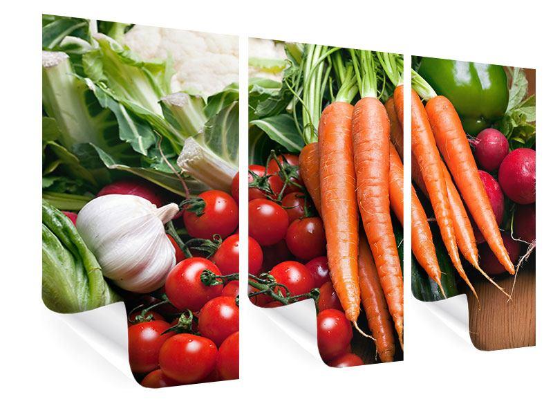 Poster 3-teilig Gemüse