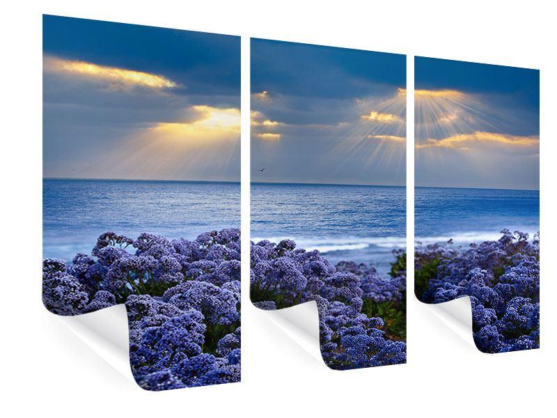 Poster 3-teilig Der Lavendel und das Meer
