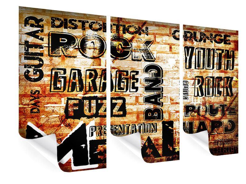 Poster 3-teilig Rock im Grungestil
