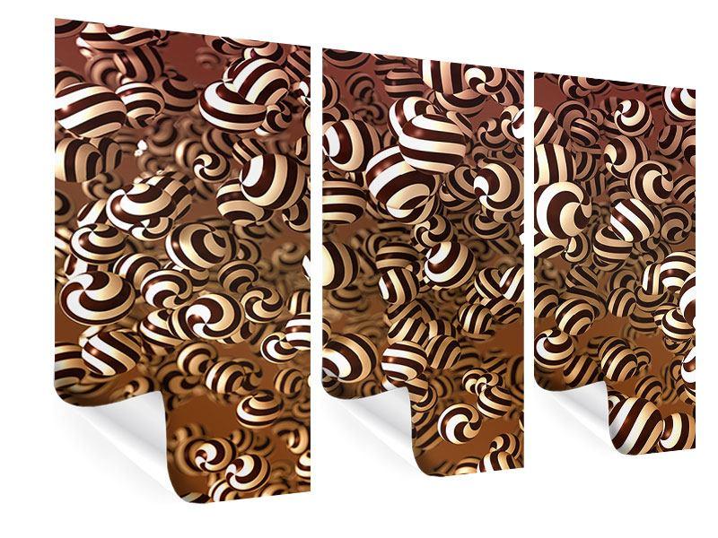 Poster 3-teilig Schokoladen-Bonbons