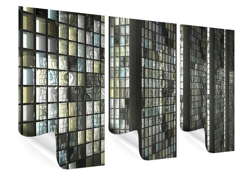 Poster 3-teilig Windows