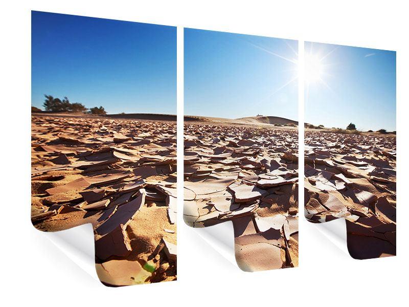 Poster 3-teilig Dürre