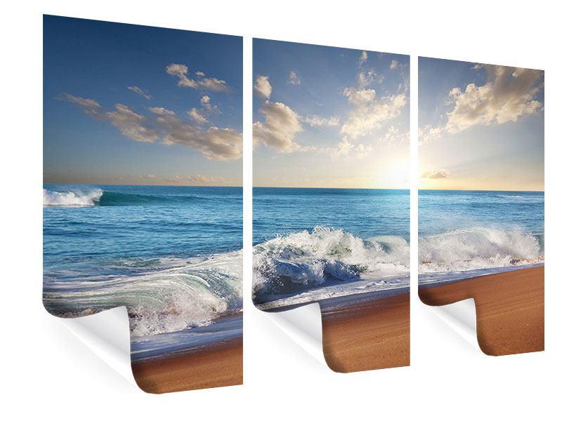 Poster 3-teilig Die Wellen des Meeres