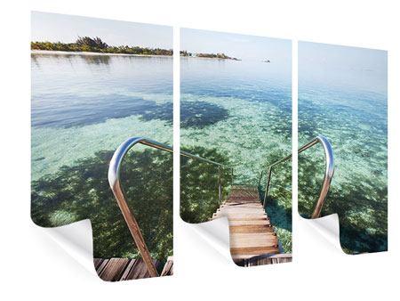 Poster 3-teilig Bad im Meer