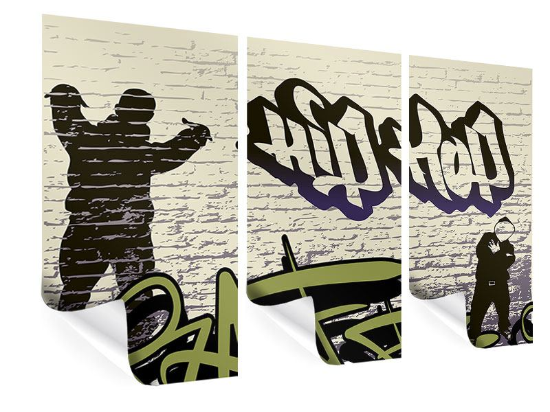 Poster 3-teilig Graffiti Hip Hop
