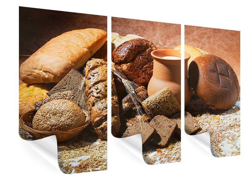 Poster 3-teilig Frühstücksbrote