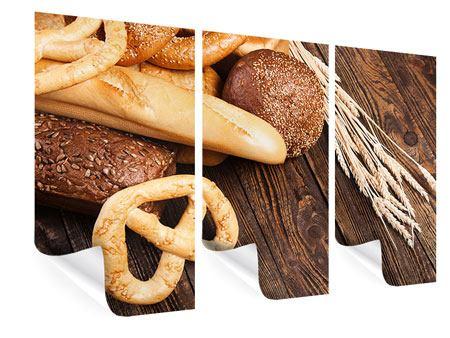Poster 3-teilig Brot und Bretzel
