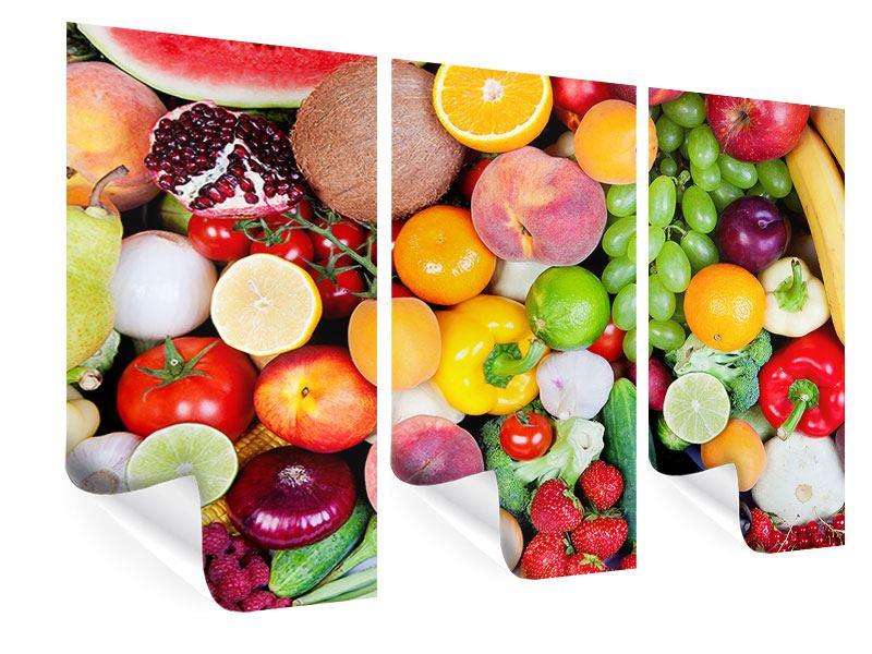 Poster 3-teilig Frisches Obst