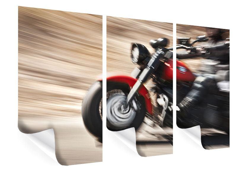 Poster 3-teilig Biker