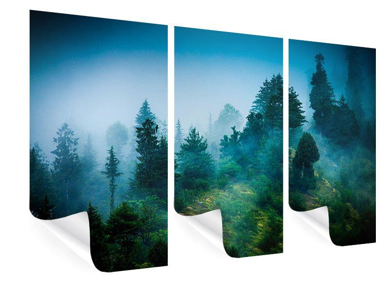 Poster 3-teilig Geheimnisvoller Wald