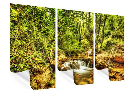 3 Piece Poster Waterfall In The Forest
