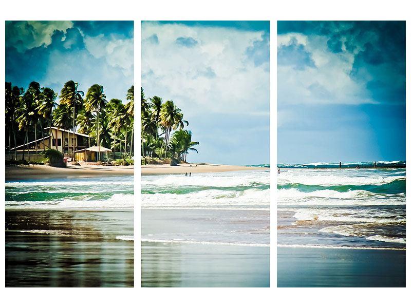 Poster 3-teilig The Beach