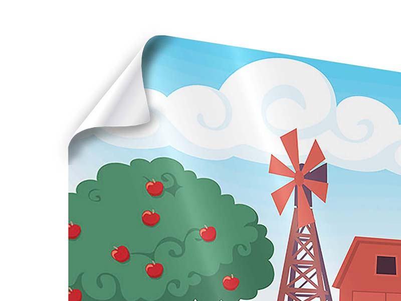 Poster 3-teilig Bauernhof