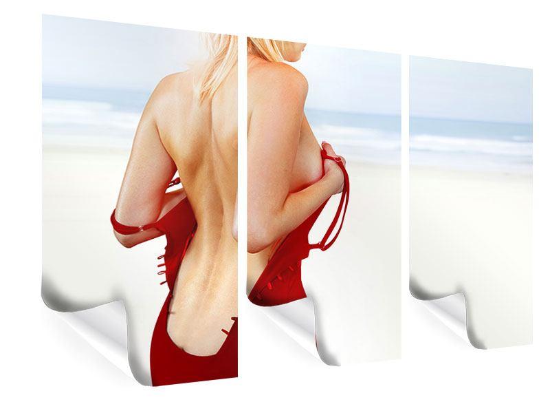 Poster 3-teilig Rücken einer Schönheit