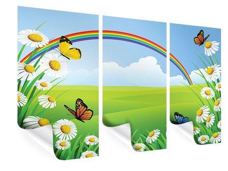 Poster 3-teilig Der bunte Regenbogen