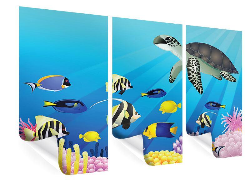 Poster 3-teilig Kinder Unterwasserwelt