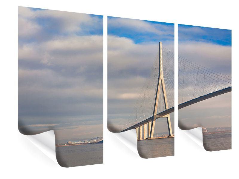 Poster 3-teilig Pont de Normandie