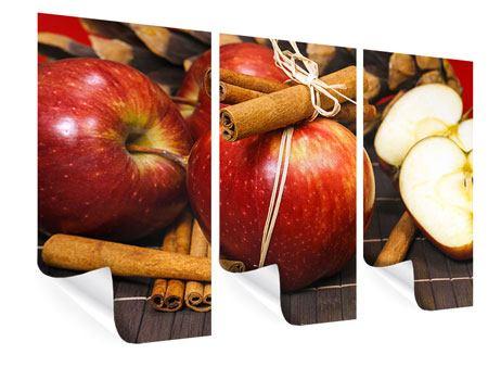 Poster 3-teilig Äpfel