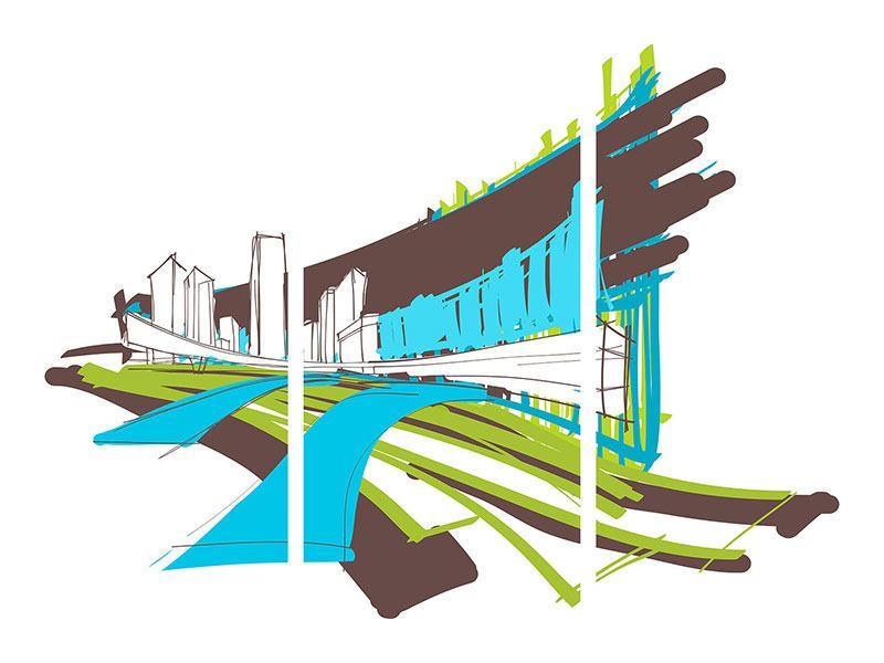 Poster 3-teilig Graffiti Street-Art