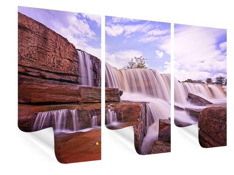 Poster 3-teilig Himmlischer Wasserfall