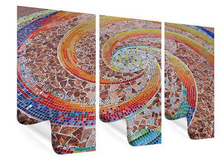 Poster 3-teilig Mosaik