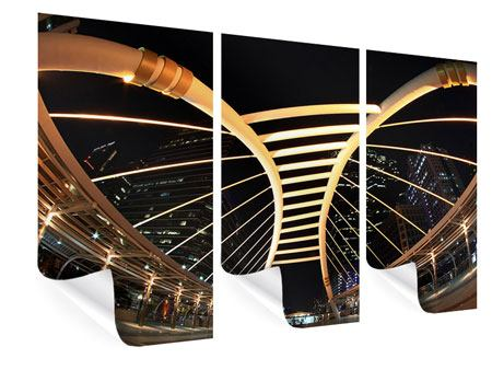 Poster 3-teilig Avantgardistische Brücke