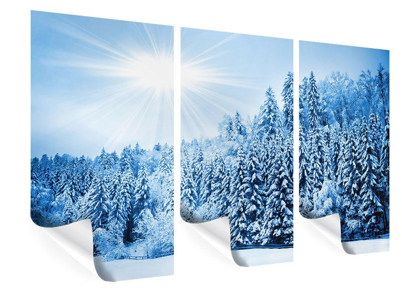 Poster 3-teilig Wintermärchen