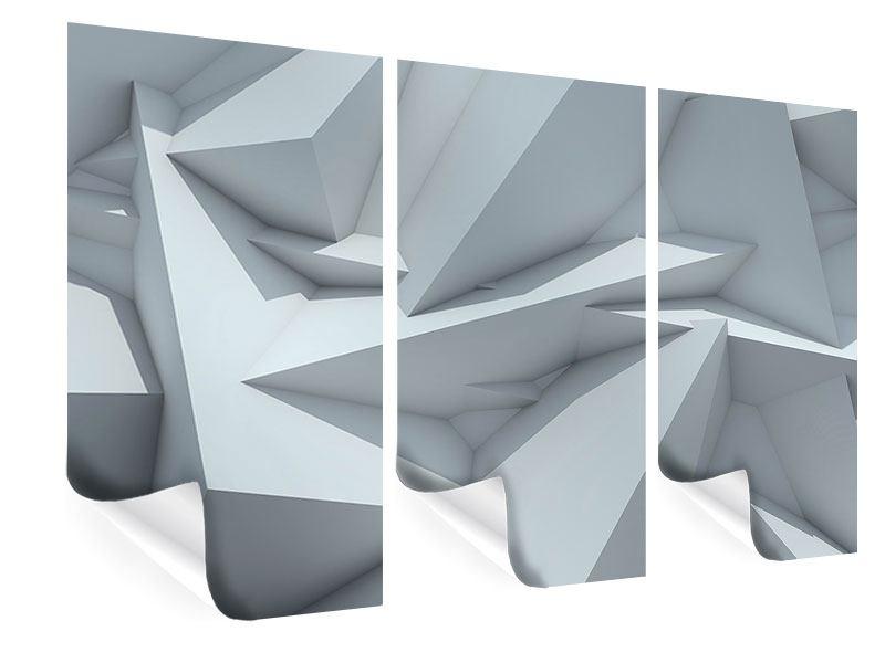 Poster 3-teilig 3D-Kristallo
