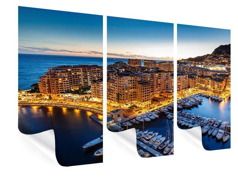 Poster 3-teilig Monaco